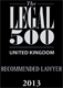Legal500RecommendedLawyer2013